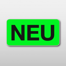 Promotions-Etikette «NEU», 30x15 mm