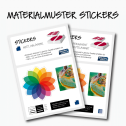 Materialmuster Stickers